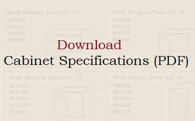 Download our Cabinet Specification Sheet